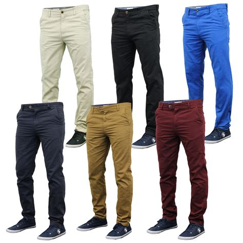 S Slim Pant mens chino stallion bottoms slim fit trousers