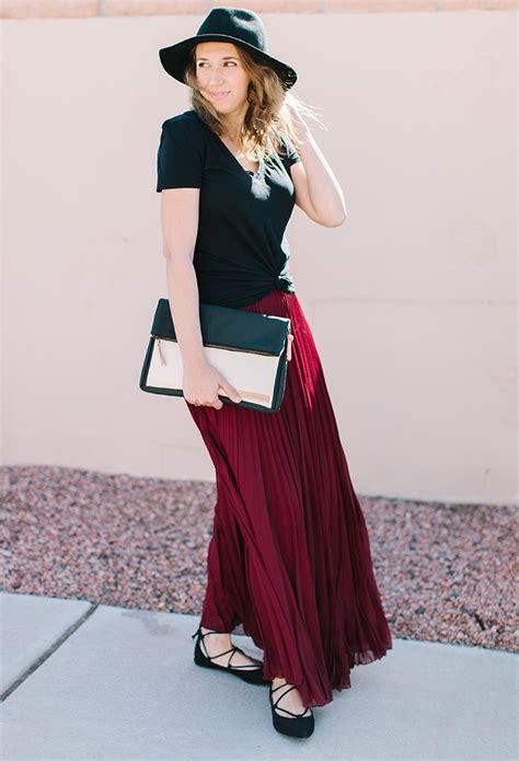 maxi skirt t shirt ave styles