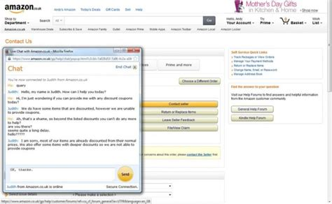 amazon live chat should uk retailers use live chat support for discount codes