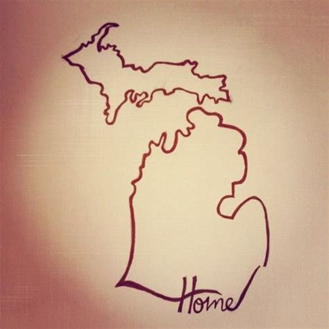 michigan outline tattoo it s to be home photography