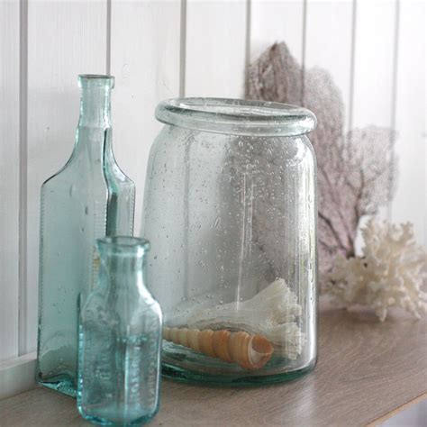 Hurricane Glass Vases by Recycled Glass Hurricane Vase By Magpie Living