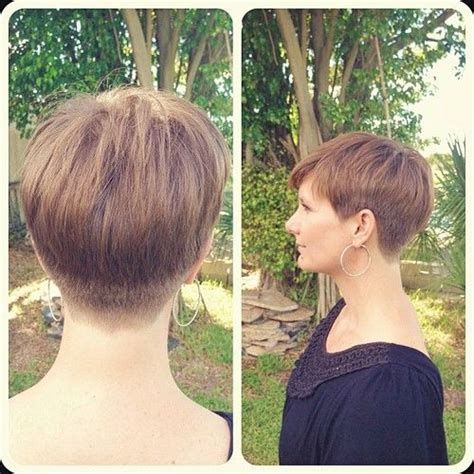 pixie hairstyle full on top tapered back for women nice graduated pixie with tapering short faded and