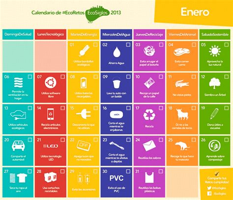 plazos de medios magneticos 2016 calendario 2013 con 365 ideas sostenibles conciencia eco