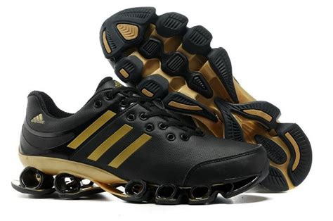 tenis adidas bounce v2 leather mens black golden sport running shoes adidas outlet regular price