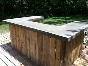 outdoor bar top ideas concrete bar top on my outdoor bar the shack pinterest