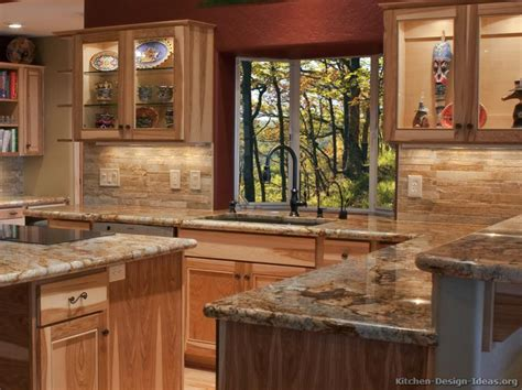 rustic kitchen cabinet ideas hickory cabinets with granite counters cabin home
