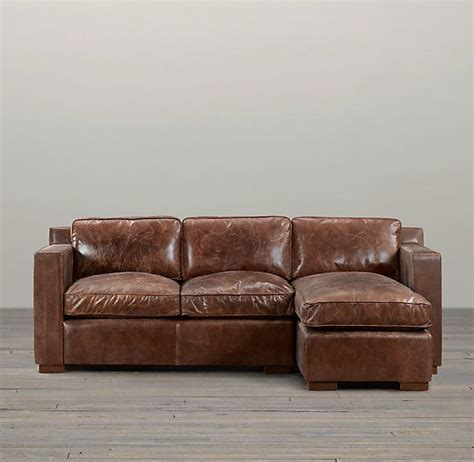 Restoration Hardware Sectional Sofa Restoration Hardware Collins Leather Sofa Chaise Sectional Home Hardware