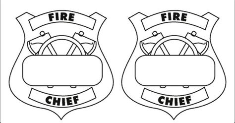 printable firefighter badge printable fireman badge
