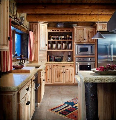 cabin kitchen cabinets log cabin kitchens farmhouse kitchen wichita by