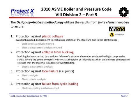 asme pressure vessel code section viii division 1 ppt asme design on ssr1 g3 powerpoint presentation id