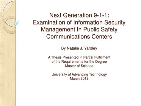 thesis defense master s thesis defense ng 9 1 1 examiniation of info