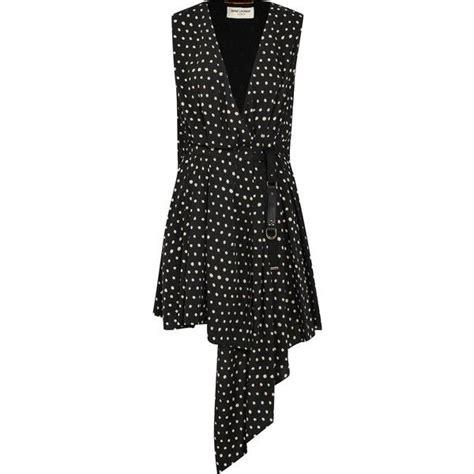 Yves Laurent Polka Dot Ruffle Mini Bag by Laurent Draped Polka Dot Crepe De Chine Mini Dress