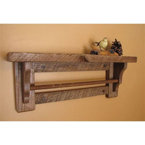 Rustic Country Wall Shelf by Image Of Country Shelf The Bathroom Towel Bar Wall Shelf