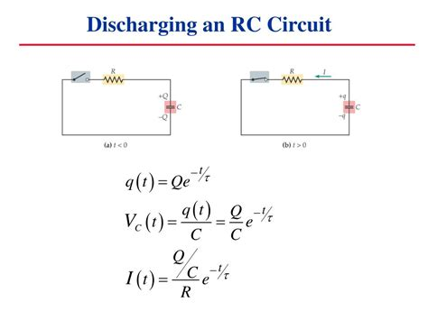 how to discharge capacitor in circuit ppt capacitors in circuits powerpoint presentation id 6906