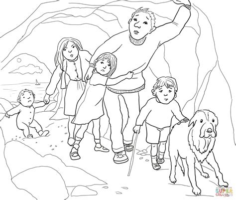 coloring pages for going on a bear hunt a narrow gloomy cave coloring page free printable