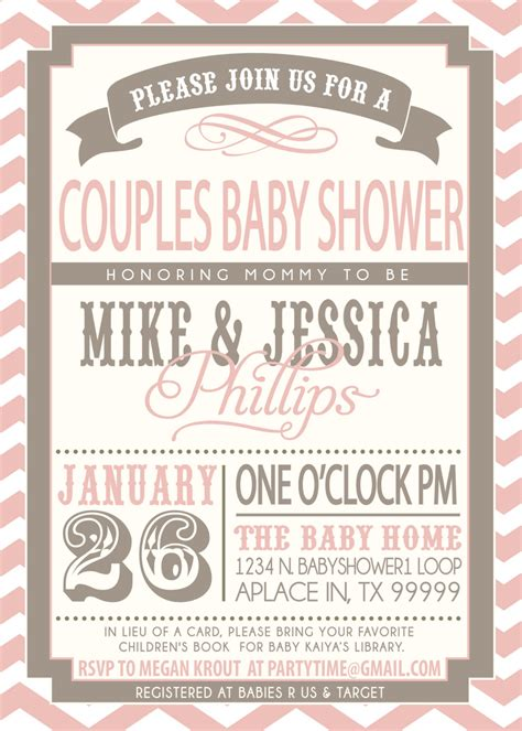 Couples Baby Shower Invitation Wording Exles by Enchanting Couples Baby Shower Invitations Theruntime