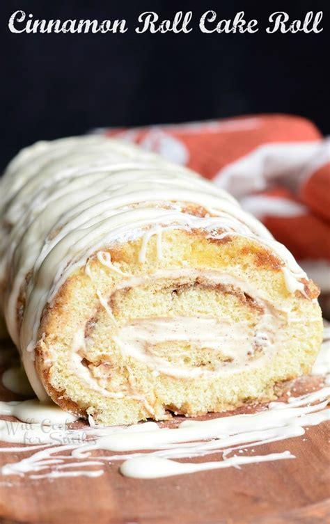 cinnamon roll cake roll  cook  smiles