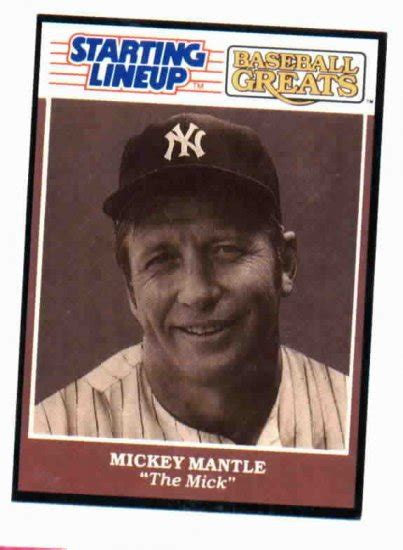 kenner starting lineup mickey mantle baseball card  york yankees oddball