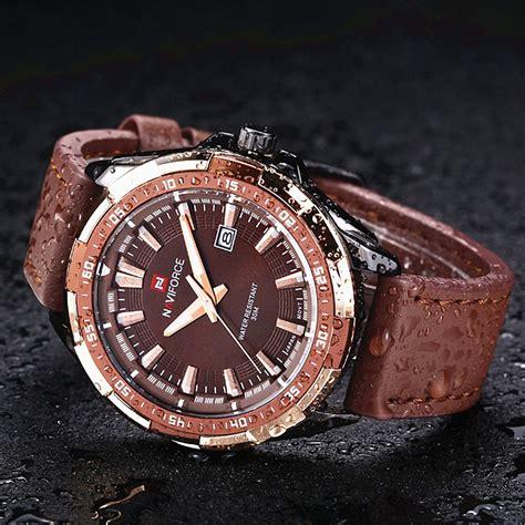 Jam Tangan Navi Brown navi jam tangan analog pria 9056 brown