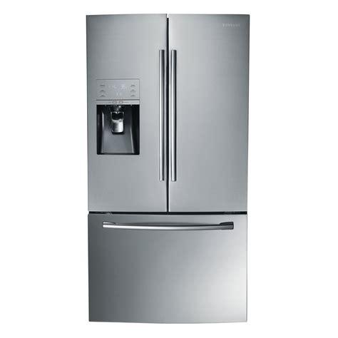 stainless steel door refrigerator samsung rf323tedbsr 32 cu ft door refrigerator stainless steel sears outlet