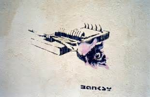Home Sweet Home Wall Sticker banksy stencil of rose placed on mousetrap banksy