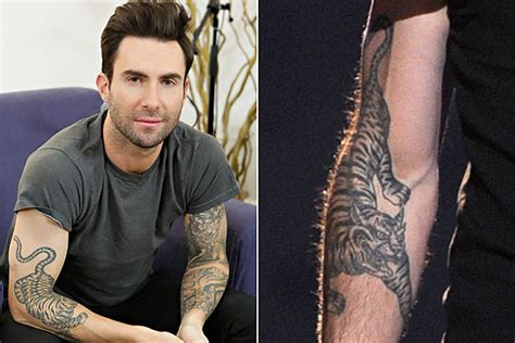 adam levine tiger tattoo which singer has the best of a animal