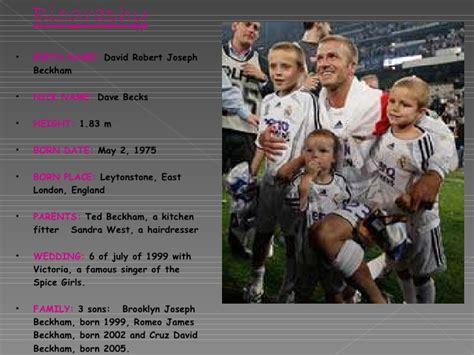 David Beckham Biography Powerpoint | david beckham