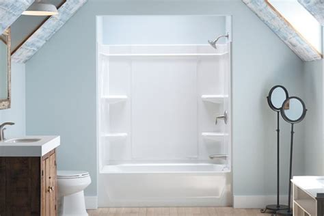 sterling bath shower sterling offers a caulk free shower installation builder