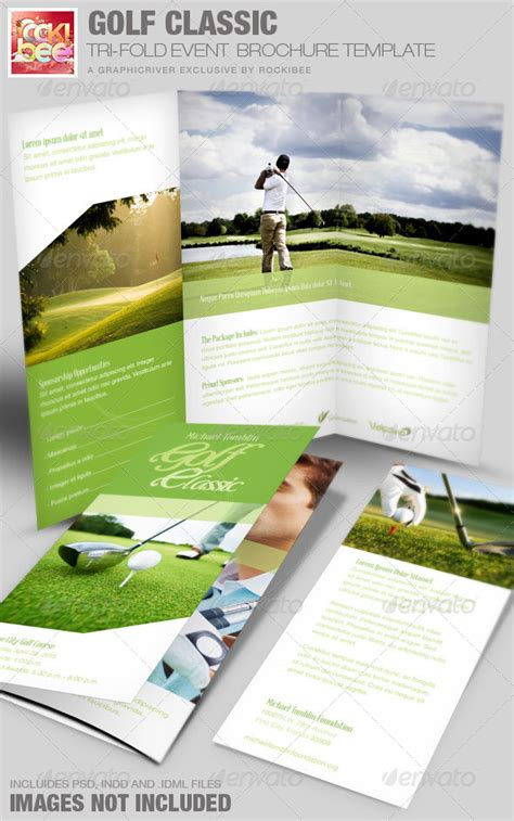 informational booklet template golf classic event tri fold brochure template graphicriver