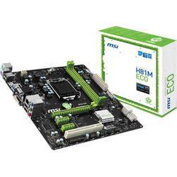 Motherboard Intel Msi H81m Eco msi h81m eco desktop motherboard h81m eco b h photo