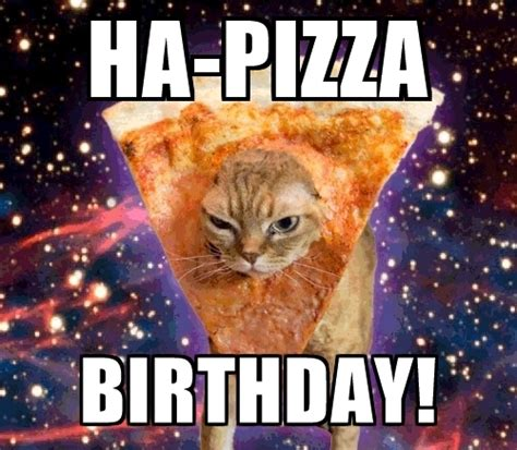 Birthday Cat Meme Generator - ha pizza birthday pizza cat meme generator