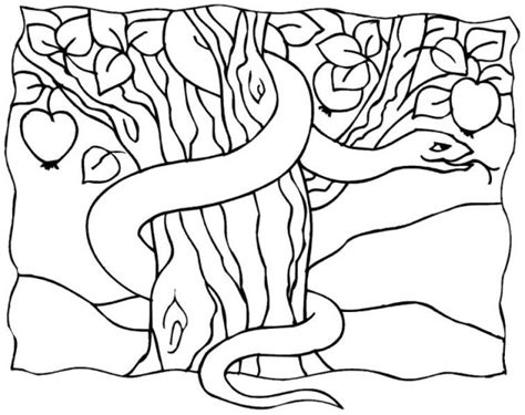 coloring page of the garden of eden fiery serpents free coloring pages