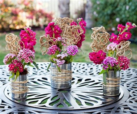 Can Decoration Ideas by 16 Easy Flower Tin Can Centerpiece Designs Top Unique