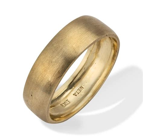 s wedding band classic brushed matte 18k gold s