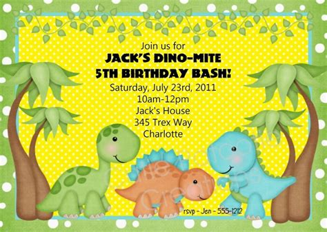 how to create dinosaur birthday invitations all