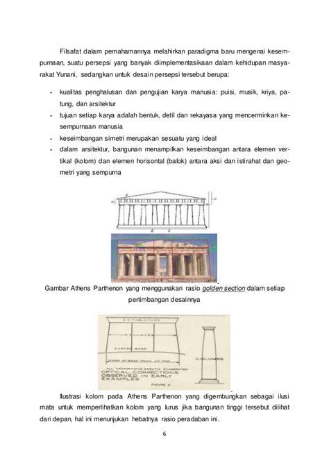 pengertian golden section arsitektur klasik dan modern