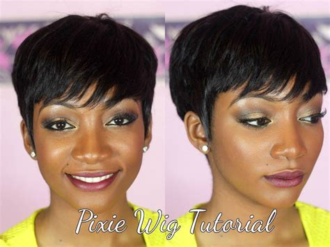 pics of pixie cut weaves diy how to make a pixie wig i love pixie cuts but i