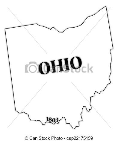 Ohio State Logo Outline by State Of Ohio Clipart 69