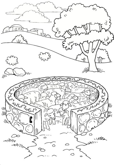 sheep pen coloring page 19 best jesus in the temple images on pinterest sunday