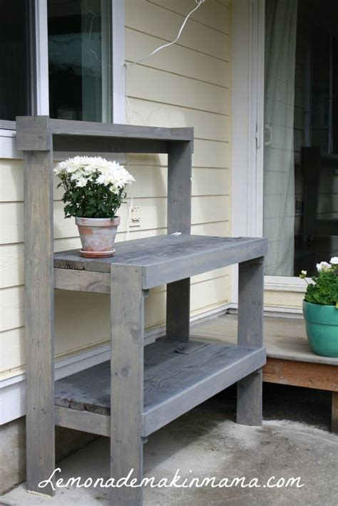 Outdoor Plant Stand Plans Woodworking Projects Plans Patio Serving Table