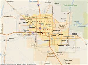 Phoenix Area Map by Pics Photos Map Of The Cities Of Greater Phoenix