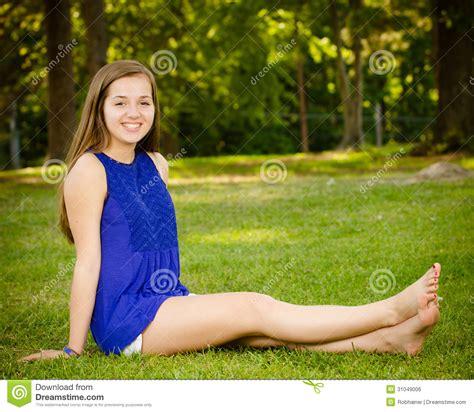 pre teen portrait of happy pre teen girl stock photo image of