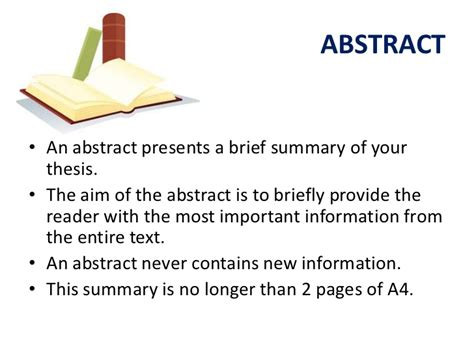 thesis abstract meaning the thesis and its parts