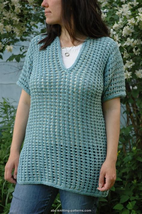 knit mesh sweater pattern abc knitting patterns subtle mesh summer sweater