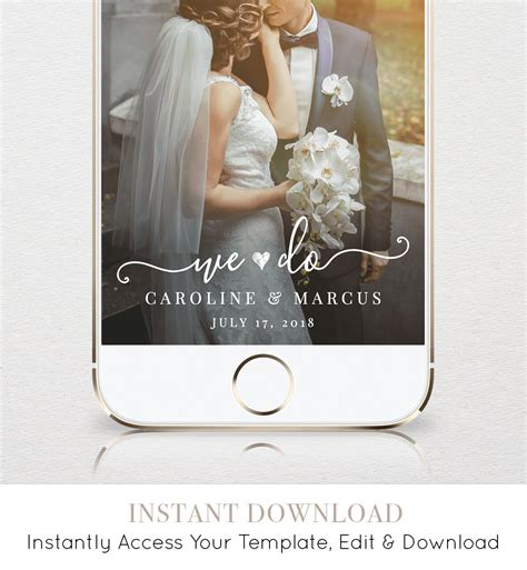 Self Editing Wedding Geofilter For Snapchat Instant Download 100 Editable Template Custom We Snapchat Wedding Geofilter Template