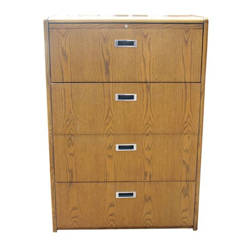 drawer file cabinet vintage four drawer wood file cabinet ebay