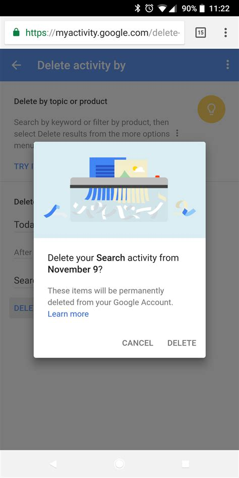 delete search history android how to delete android browser history