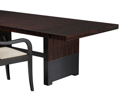 bamboo wood dining table promemoria bamboo dining table in wood or bronze