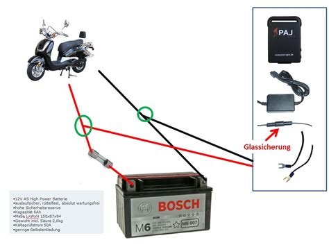Motorrad Batterie Anschlie En by Znen 50 Qt E Peilsender Gps Elektrik Baotian Forum