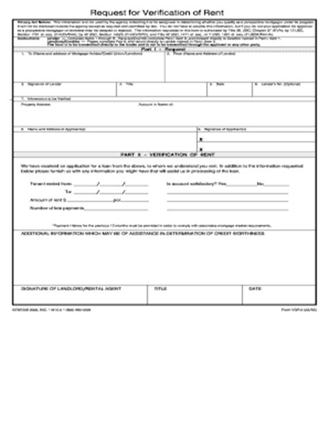 blank rental verification form rental verification form fill online printable